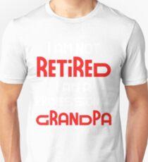 Camiseta ajustada No estoy jubilado Soy un abuelo profesional Divertido regalo Idea divertido regalo de jubilación