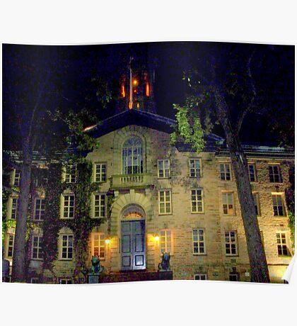 Night  Campus  Princeton  Poster