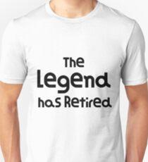 Camiseta ajustada The Legend se ha retirado Funny Design Funny Retirement Gift