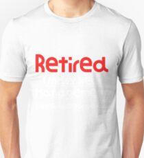 Camiseta ajustada Retirado bajo nueva administración Vea cónyuge para detalles Bonita idea de regalo Bonita regalo de jubilación