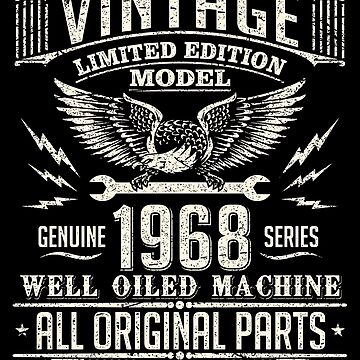 Vintage 50th Birthday Funny1968 All Original Parts by Coldink
