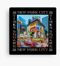 Times Square III Special Finale Edition Titled Poster II (on black) Canvas Print