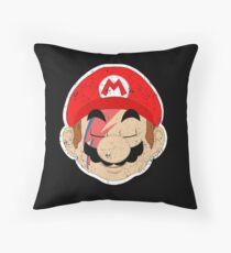 Super Starman Bros mash-up Throw Pillow