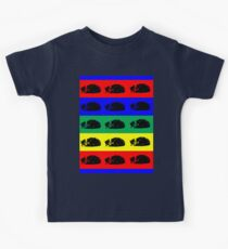 Multiple Tabby Cat Pop Art Kids Tee
