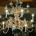 Silver Chandelier by Ludwig Wagner
