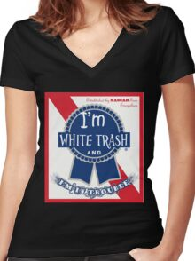 South Park PBR Satire Women's Fitted V-Neck T-Shirt