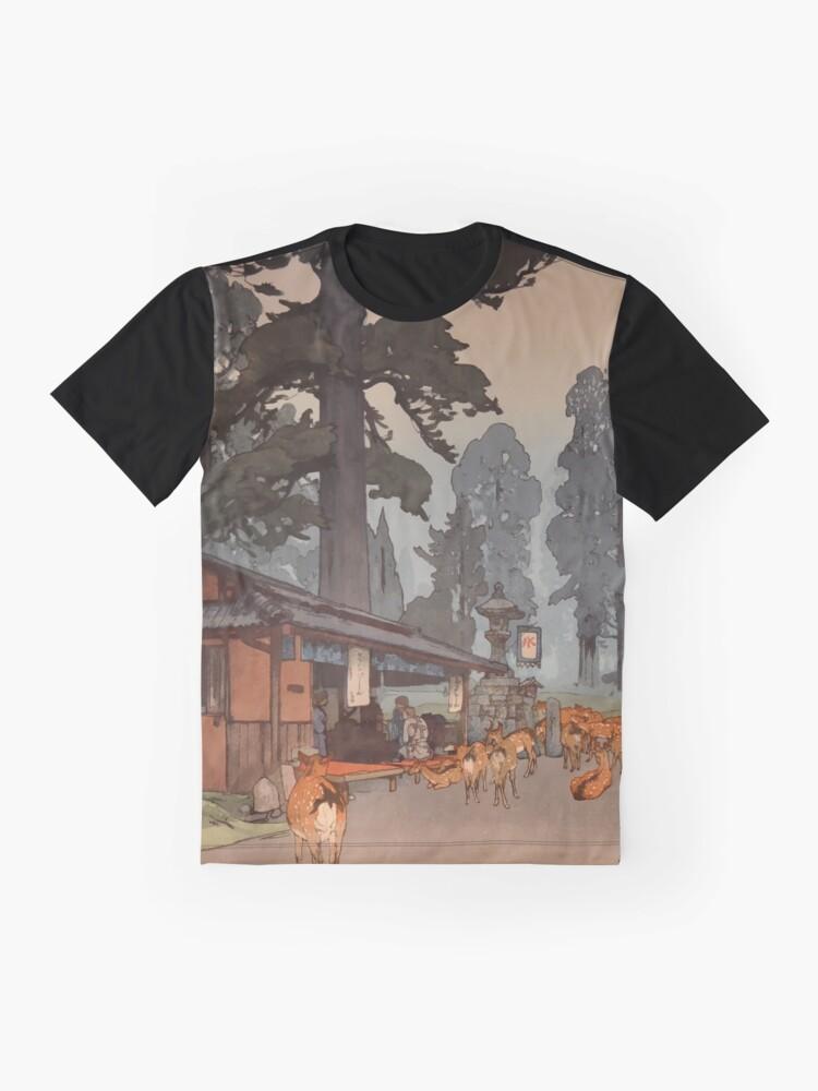 Alternate view of Way To Kasuga Shrine 1938 Hiroshi Yoshida Japanese Art Graphic T-Shirt