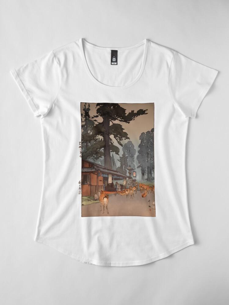 Alternate view of Way To Kasuga Shrine 1938 Hiroshi Yoshida Japanese Art Premium Scoop T-Shirt