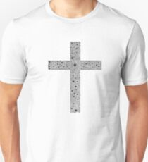 black polka dot flower cross Unisex T-Shirt