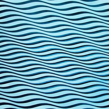 Waves Op Art Tessellation by closeddoor