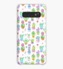 Crystal Cactus Repeating Pattern Case/Skin for Samsung Galaxy