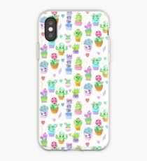 Crystal Cactus Repeating Pattern iPhone Case