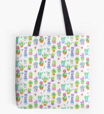 Crystal Cactus Repeating Pattern Tote Bag