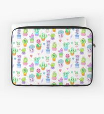 Crystal Cactus Repeating Pattern Laptop Sleeve
