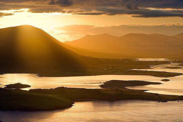 • Surise Overlooking Cahersiveen, Co. Kerry, Ireland by Madeleine  Weber