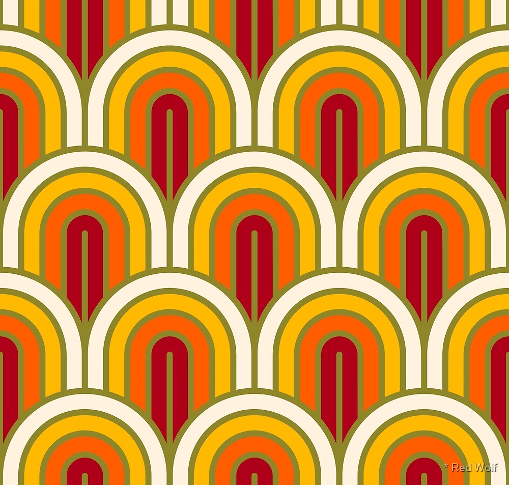 Geometric Pattern: Art Deco Arch: Sunset by * Red Wolf