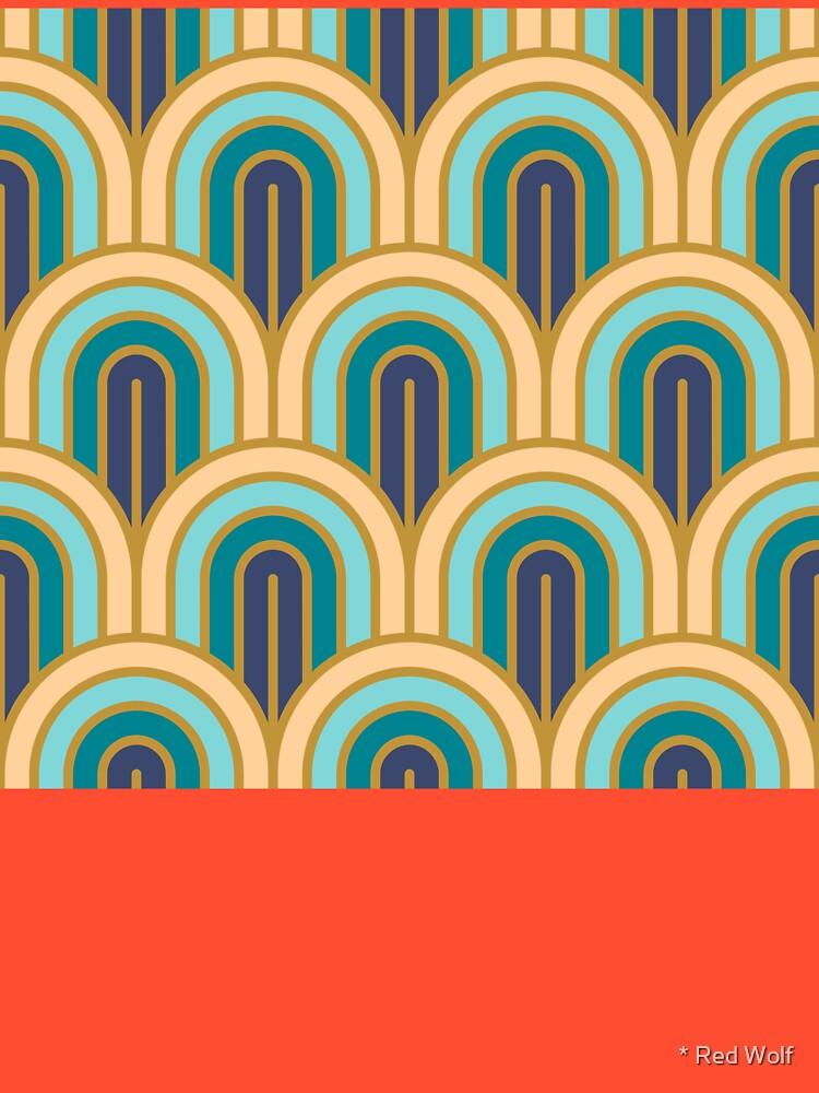 Geometric Pattern: Art Deco Arch: Dream by redwolfoz