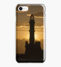 Sunset at Chania Old Town iPhone Case/Skin