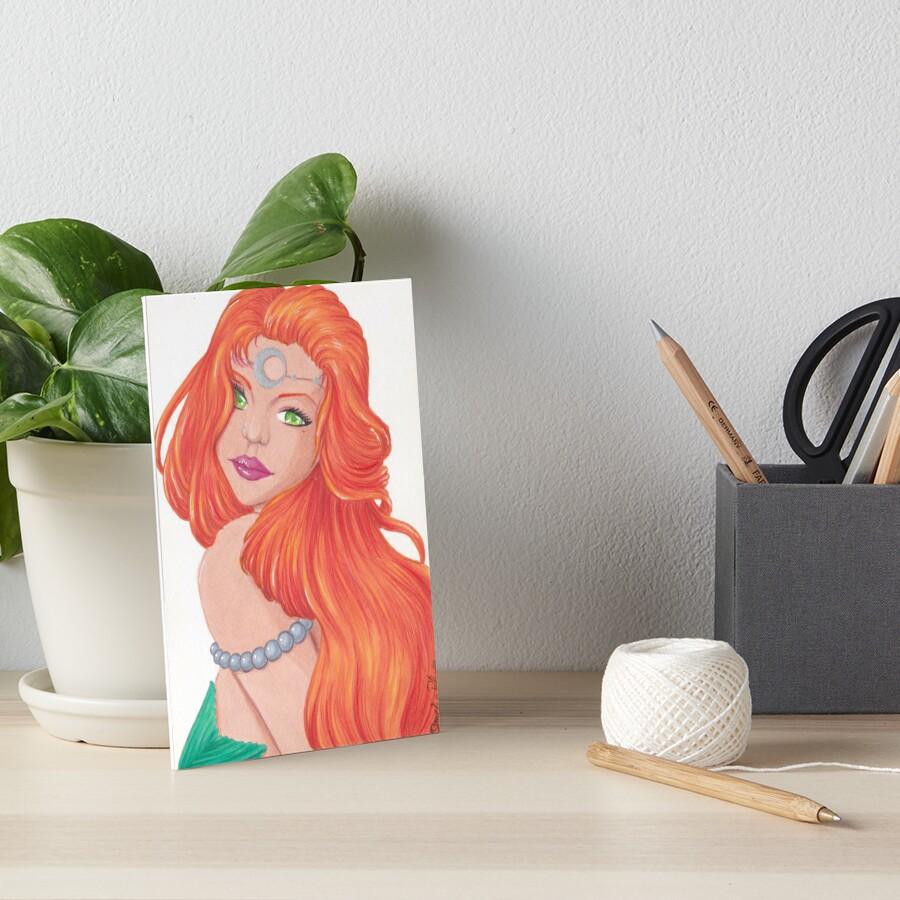 « Sirène rousse, chevelure flamboyante » par Omelia-Plude