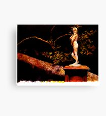 Statue at Night Canvas Print