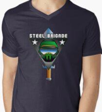 STEEL BRIGADE. Men's V-Neck T-Shirt