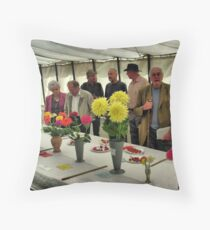 The Show Marquee at Hawkesbury Upton Horticultural Show. Throw Pillow