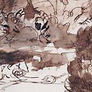Detail of en-plein-air draw by Valentina Zampedri