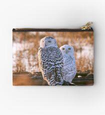 Snowy Owls Studio Pouch