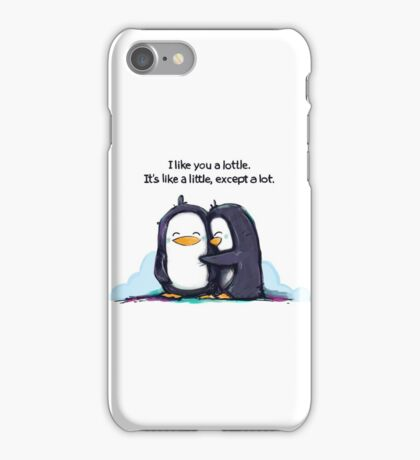 I Like You a Lottle Penguins iPhone Case/Skin