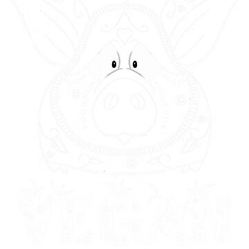 VEGAN PIG by wiboandbear