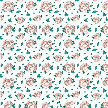 Pattern Hand Drawing Roses Leaves by cybermall