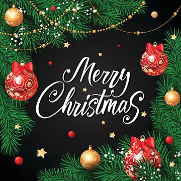 Frohe Weihnachten rote Kugeln Design von webtrekker