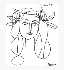 Pablo Picasso War And Peace 1952 Artwork, for Wall Art, Tshirts, Prints, Men, Women, Youth Photographic Print