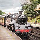 Steam Locomotive in Llangollen Station (wider view) by StephenRphoto