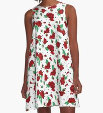 roses and dots A-Line Dress