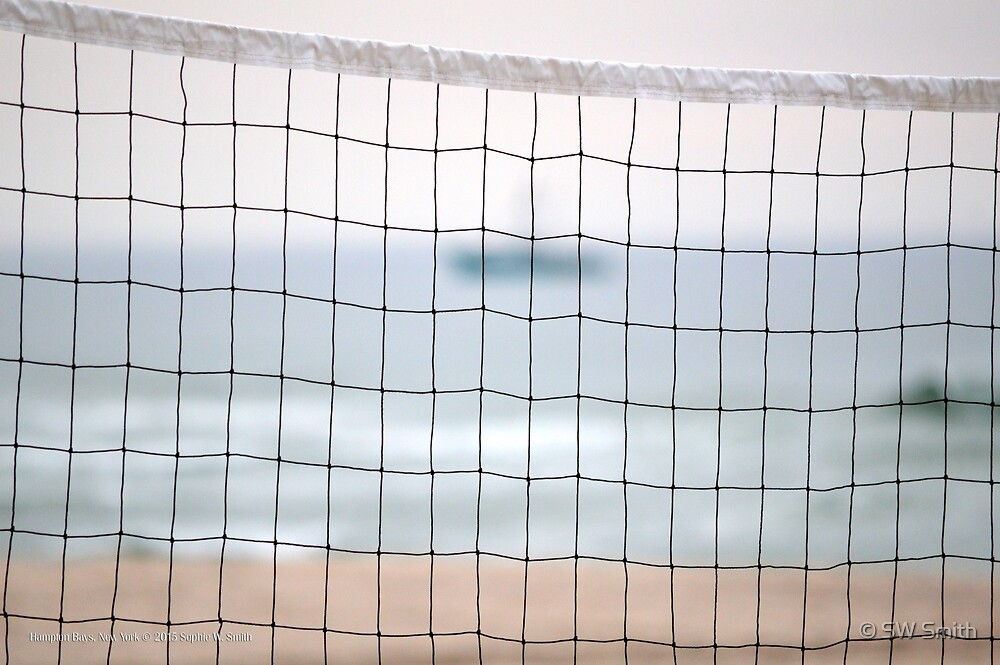 Volleyball Net On Ponquogue Beach | Hampton Bays, New York  by © Sophie W. Smith