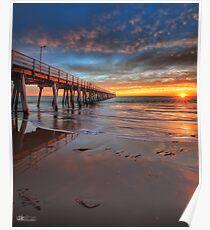 Grange Jetty Sunset - HDR Poster