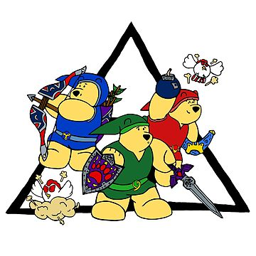 Triforce Bears by BearlyGoin