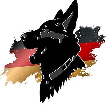 German shepherd dog by CORZ