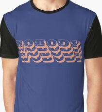 Nobody - Blue/Pink Graphic T-Shirt