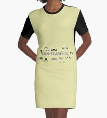 Fan-stash-tic Variety Of Moustaches Graphic T-Shirt Dress