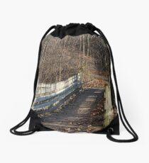 Hiking Trail Bridge 120217 Drawstring Bag