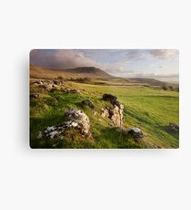 Ingleborough In The Yorkshire Dales Metal Print