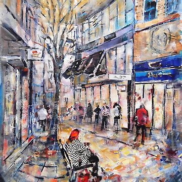 City Street Scene Painting - Norway by ballet-dance