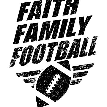 Religious Faith Family Football Christian Gifts by VintageInspired