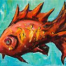 Fantasy Red Fish by Yulia Kazansky