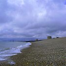 Imminent storm on the Fisherman's beach Hythe  by Beatrice Cloake