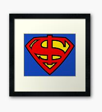Super Dollar Framed Print