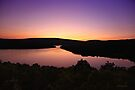 Sunset Lake Sacacomie - Quebec - Canada by Yannik Hay