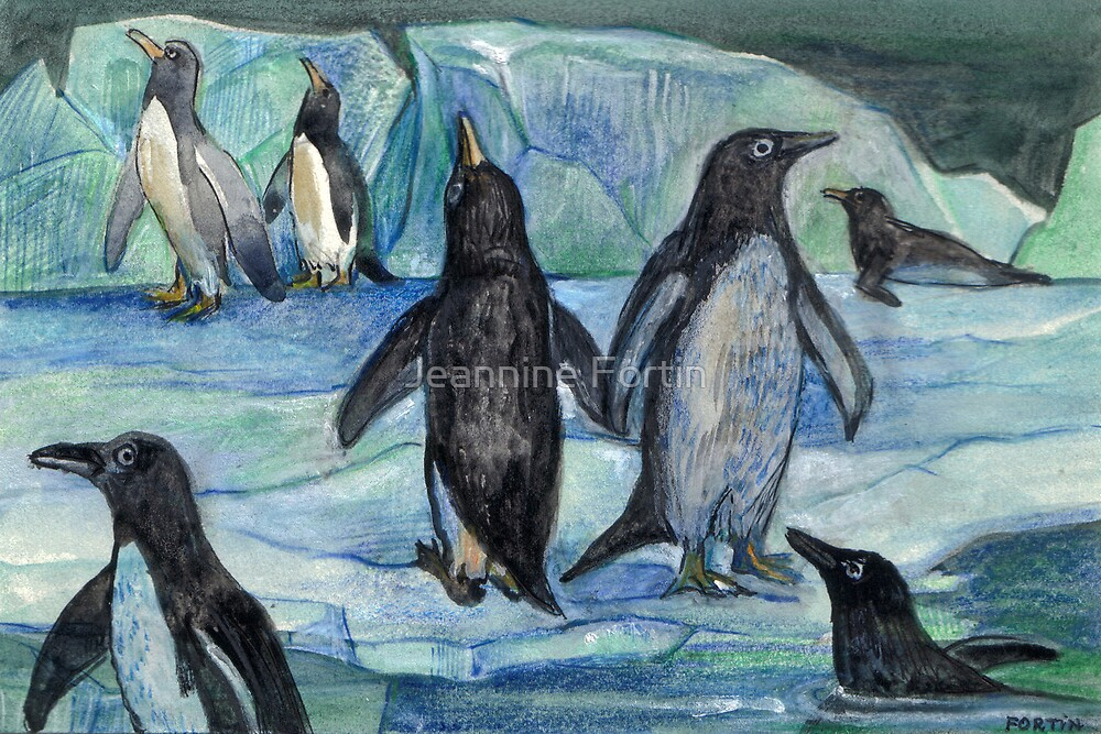 Penguins by Jeannine Fortin